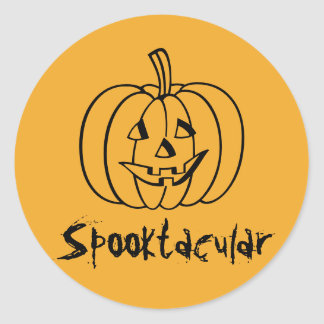 Spooktacular Pumpkin Stickers by RoseWrites