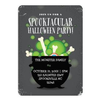 SPOOKTACULAR WITCHES BREW HALLOWEEN PARTY CARD