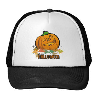 Spooky Animals Pumpkin Trucker Hat
