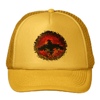 Spooky Bat on Fire Art Trucker Hat