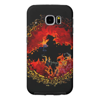 Spooky Bat on Fire Samsung Galaxy S6 Cases