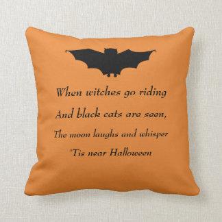 Spooky Bat Throw Pillow