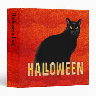 Spooky Black Cat Halloween 1.5 inch 3 Ring Binders