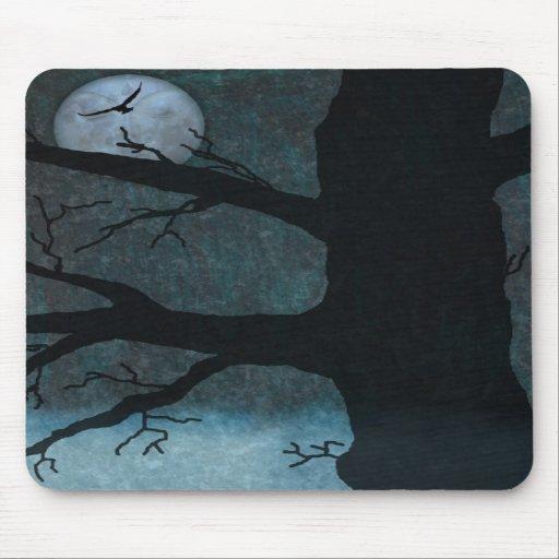 Spooky cemetery mousepad