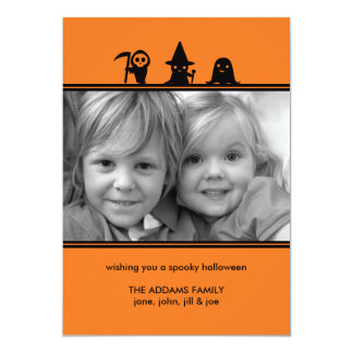 Spooky Costumes Halloween Photo Card
