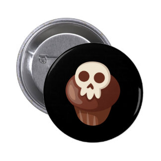 Spooky & Cute Skele-muffin 2 Inch Round Button