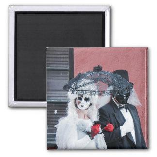 Spooky dark Halloween goth masquerade ball magnet