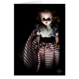 Spooky doll named Ann, a Halloween Spirit Card