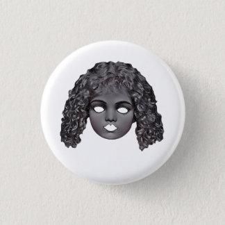 Spooky Dolls Head Badge 1 Inch Round Button