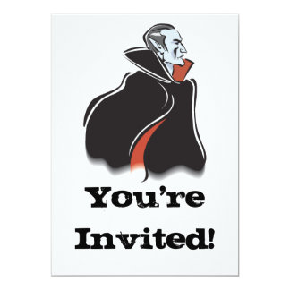 spooky dracula vampire card