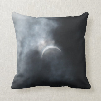 Spooky Eclipse Storm Clouds 2017 Throw Pillow