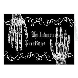 Spooky elegance Halloween zombie hands Card