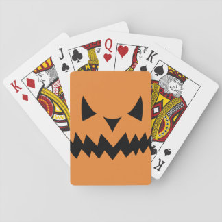 Spooky Face Playing Cards