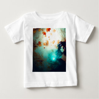 Spooky Forest and Dark Witch Baby T-Shirt