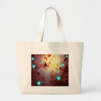 Spooky Forest and Fairy2 Large Tote Bag