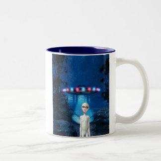 Spooky Forest UFO Close Encounter Mug