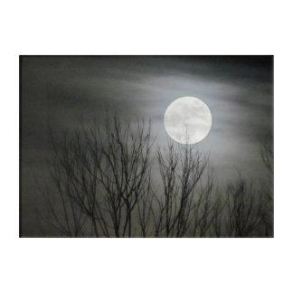 Spooky Full Moon Acrylic Art