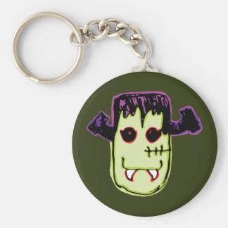 Spooky & Fun Vamp-N'-Stein Face Basic Round Button Keychain