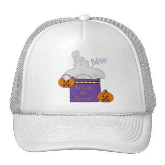 Spooky Ghost Cap Trucker Hat