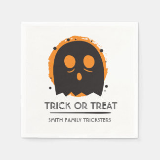 Spooky Ghost. Family Trickster. Paper Napkins
