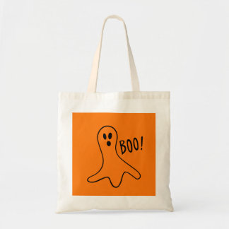 Spooky Ghost Halloween Trick or Treat 4Timmy Tote Bag