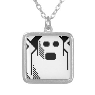 Spooky Ghost Silver Plated Necklace