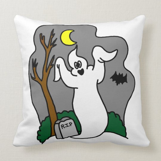 Spooky Ghost Throw Pillow