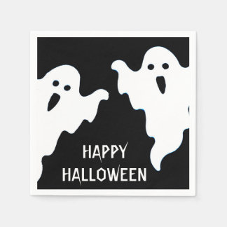SPOOKY GHOSTS HALLOWEEN COCKTAIL NAPKINS PAPER NAPKINS