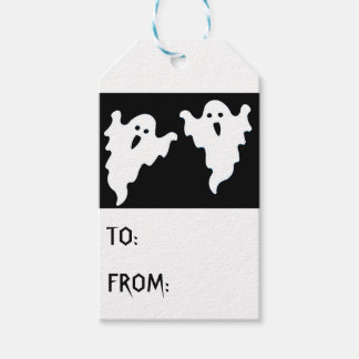 SPOOKY GHOSTS HALLOWEEN GIFT TAGS PACK OF GIFT TAGS
