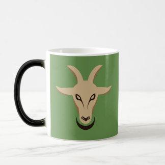 Spooky Goat Vector - Green White Goat Story Coffee Magic Mug