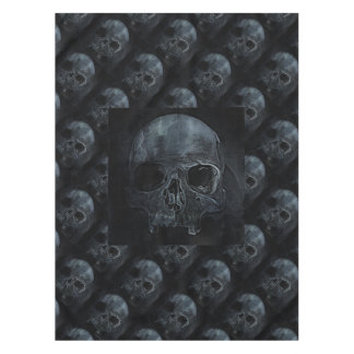 Spooky Gothic halloween skeleton bone Xray Skull Tablecloth