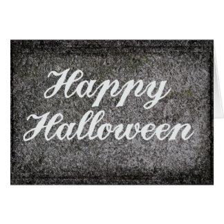 Spooky Grave Headstone Happy Halloween Card