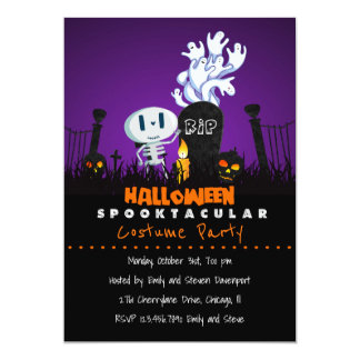Spooky Graveyard Halloween Party Invite