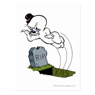 Spooky Graveyard Postcard
