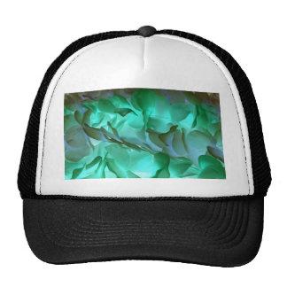 Spooky grey and green petals mesh hat