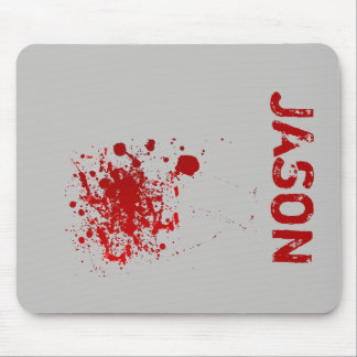 Spooky Halloween Add Name | Blood Splatters Mouse Pad