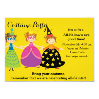 """spooky Halloween Costume Party 5"""" X 7"""" Invitation Card"""