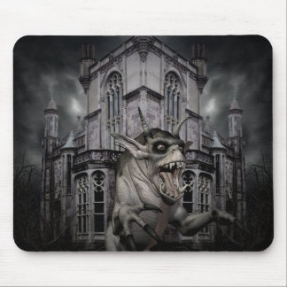 Spooky Halloween demon Mouse Pad