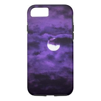 Spooky Halloween Full Moon Purple Clouds iPhone 8/7 Case