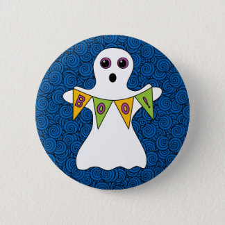Spooky Halloween Ghost Boo 2 Inch Round Button