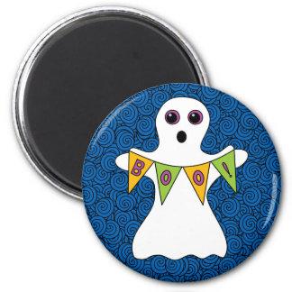 Spooky Halloween Ghost Boo Magnet