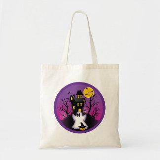 Spooky Halloween Ghost Tote Bag