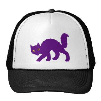 Spooky Halloween Kitty Cat Scary Evil Trucker Hat
