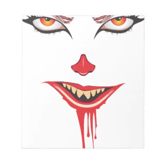 Spooky Halloween Makeup Notepad