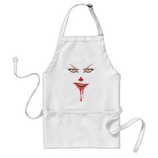 Spooky Halloween Makeup Standard Apron