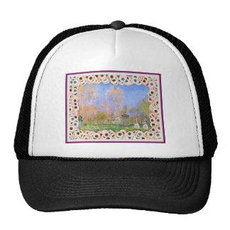 Spooky Halloween Monet Springtime In Giverny Hat. Trucker Hat
