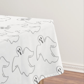 Spooky Halloween Party Ghost Print Decor Tablecloth