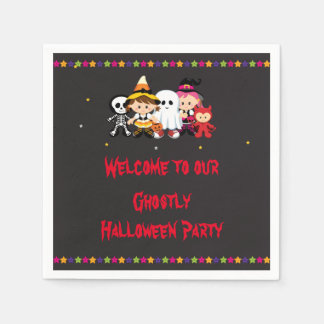 Spooky Halloween Party Paper Napkin