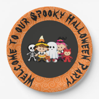 Spooky Halloween Party Paper Plate