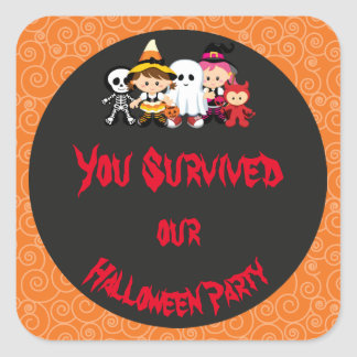 Spooky Halloween Party Square Sticker